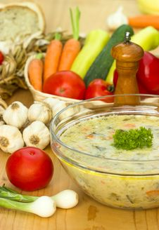Free Vegetarian Broth Stock Photo - 25293130