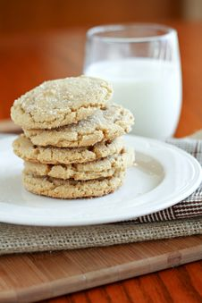 Free Browned Butter Sugar Cookies Stock Photography - 25297262