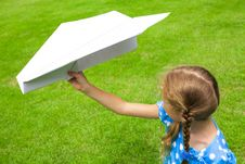 Free Airplane In The Hand Of Child Stock Photography - 25298162