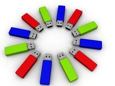 Colorful Flash Drives Royalty Free Stock Image
