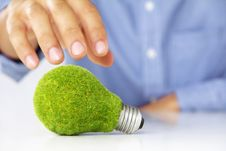 Free Eco Light Bulb Concept Royalty Free Stock Images - 25299489