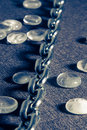 Free Steel Chain In Blue Royalty Free Stock Photography - 2530457