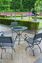 Free Park Cafe In Rain Royalty Free Stock Image - 2530546