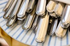 Free Cutlery In A Napkin Royalty Free Stock Photo - 2530015