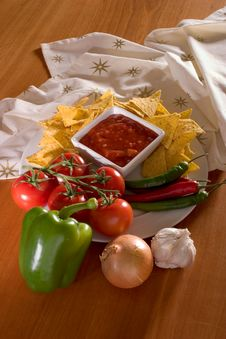 Free Table Salsa Royalty Free Stock Photo - 2530665