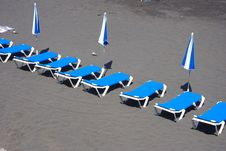 Beach Couches Royalty Free Stock Photography