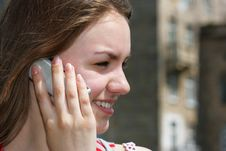 Free Girl With Cell Phone Royalty Free Stock Photo - 2531445