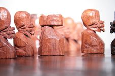 African Chess Army Royalty Free Stock Photo