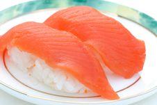 Free Fresh Sockeye Salmon Sushi Stock Images - 2531544