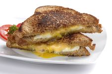 Free Fried Egg Sandwich Royalty Free Stock Photography - 2532127