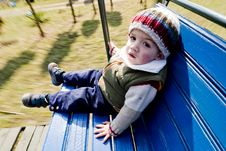 Boy In Swing Royalty Free Stock Image