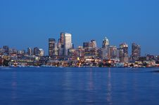 Free Seattle Night View Stock Image - 2532341
