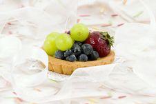 Fruit Tart On Cloud Of Ribbon Royalty Free Stock Image