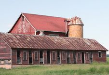 Rustic Old Farmhouse Royalty Free Stock Photography