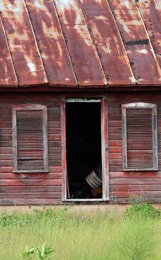 Rustic Old Farmhouse Stock Image
