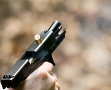 Free Pistol In Action Stock Photo - 2533550
