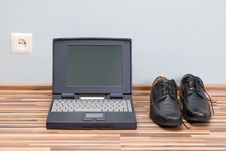 Free Laptop, Shoes, And Power Stock Images - 2534284