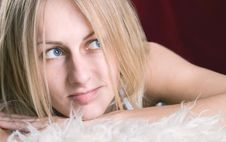 Free Blue Eyes Attractive Blond Stock Image - 2534351