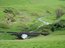 Free Hikers At Smardale Bridge Royalty Free Stock Image - 2534886