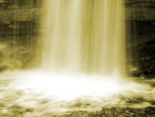 Free Yellow Desaturated Waterfall Royalty Free Stock Photo - 2535115