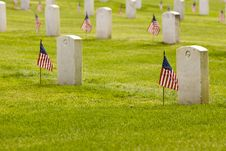 Free Unmarked US Grave Stones Stock Photos - 2535233