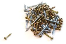 One Screw Against Many Royalty Free Stock Photo