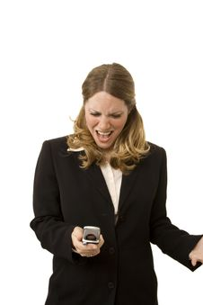 Free Angry Businesswoman Royalty Free Stock Photo - 2537935