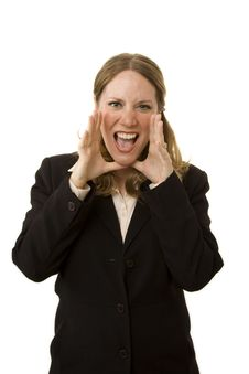 Free Businesswoman Shouting Royalty Free Stock Photography - 2537967