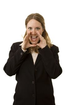 Free Businesswoman Shouting Royalty Free Stock Photography - 2537987