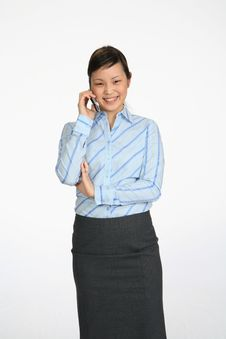 Free Woman Talking On Cell Phone Stock Image - 2538311