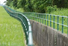 Free Big Drain And Fence  In The Pa Stock Photography - 2538872