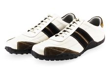 Casual Shoes On White Stock Photos