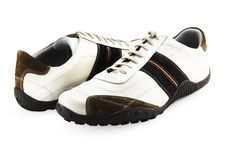 Casual Shoes On White Royalty Free Stock Photo