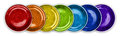 Free Rainbow Color Plates In Line Royalty Free Stock Image - 25301416