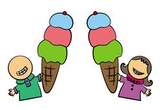 Free Ice Cream Biggie Stock Image - 25301321