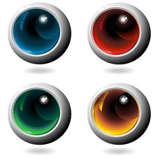 Free Colors Crystal Metal Spheres Stock Image - 25302661