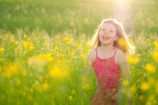 Free Happy Little Girl Stock Photo - 25303420