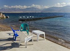 Free Southern Beach Of Eilat, Israel Stock Images - 25304024