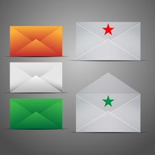 Free Mail Marketing Icon Set. Royalty Free Stock Images - 25304519