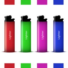 Free Vector Colored Lighters Stock Images - 25307134