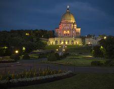 Free St. Joseph S Oratory Night Stock Photography - 25308812