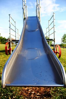 Free Metal Playground Slide Stock Photography - 25309022