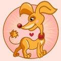 Free Stylized Golden Dog Stock Photo - 25314400