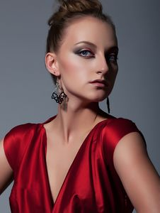 Free Fashionable European Girl Closeup Portrait Royalty Free Stock Image - 25311566
