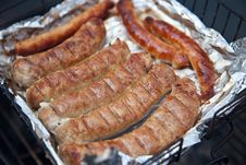 Sausage On The Grill Royalty Free Stock Image