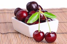 Free Juicy Ripe Cherries Royalty Free Stock Images - 25312189