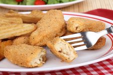 Free Chicken Strip Meal Royalty Free Stock Photography - 25313237