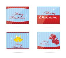 Free New Year And Christmas Emblems Set Royalty Free Stock Photos - 25313298