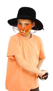 Free Boy With Cat-mask Stock Photo - 25314490