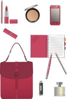 Free Set For Business Woman. Royalty Free Stock Image - 25314666